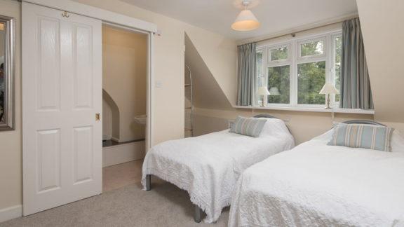 Bedroom 3 - the 2nd floor twin bedroom with en-suite